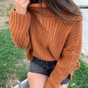 J.O.A. | Burnt Orange Knit Sweater